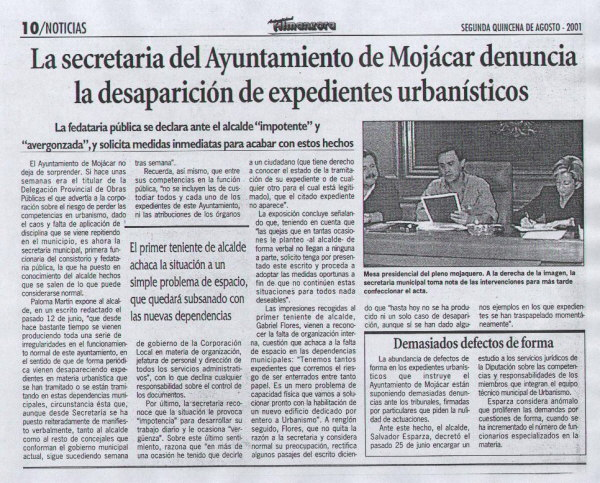 Desaparición de Expedientes